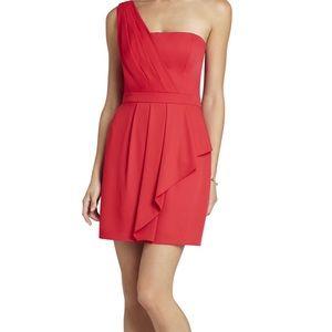 BCBG coral dress